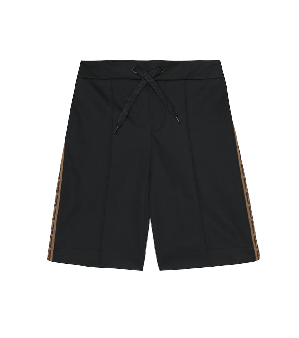 FENDI LOGO TAPE TRACK SHORTS