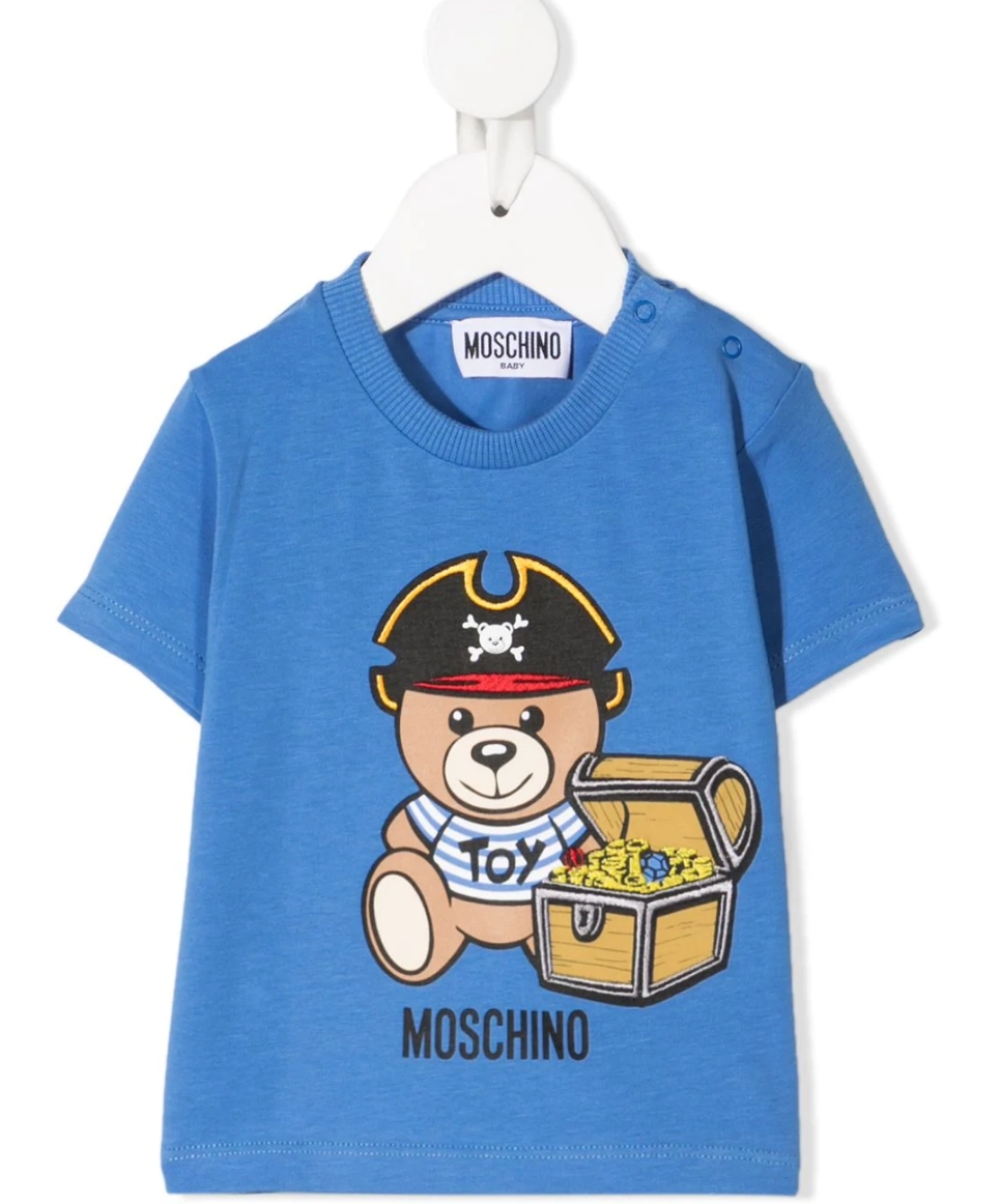 Moschino Kids teddy bear-print cotton T-Shirt