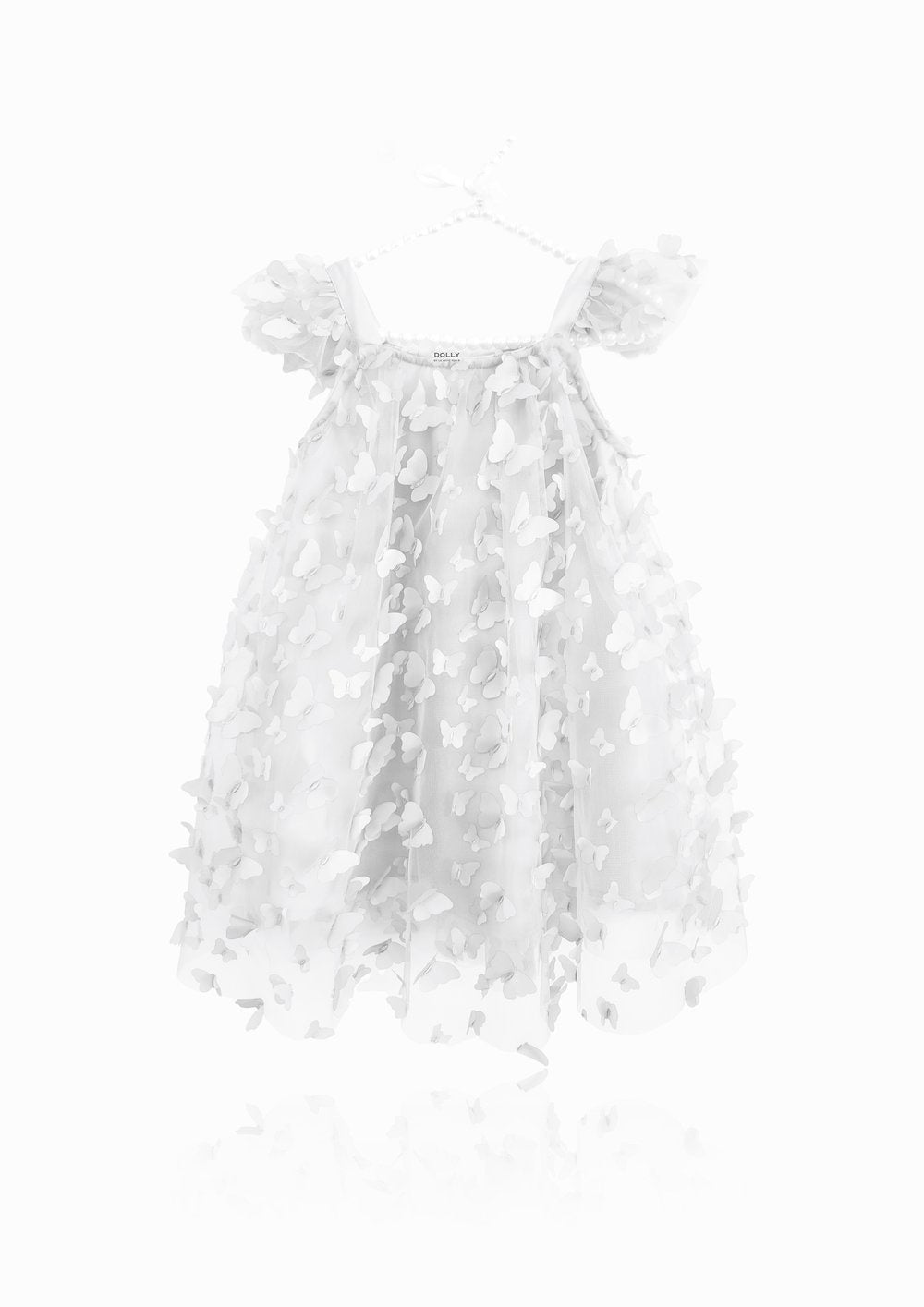 DOLLY BY LE PETIT TOM ® ALLOVER BUTTERFLIES TUTU DRESS WHITE