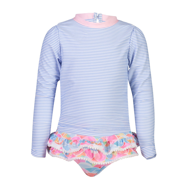 Rainbow Connection LS Ruffle Surf Suit