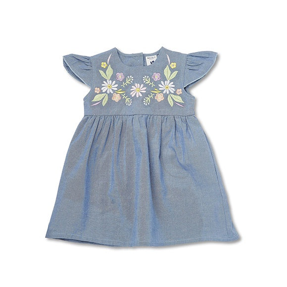 JASMINE DRESS Chambray Blue