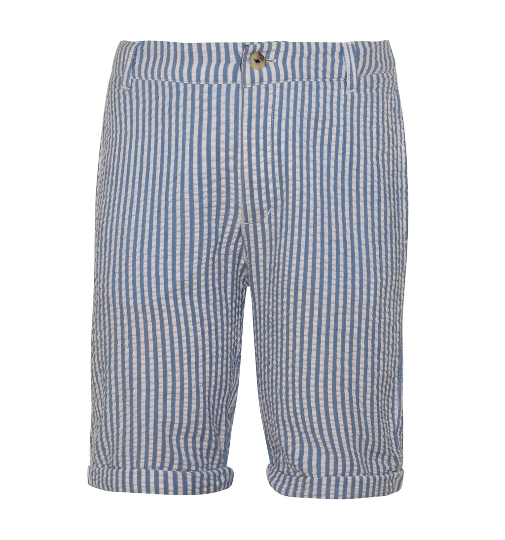 BOYS NAVY SEERSUCKER COTTON SHORTS