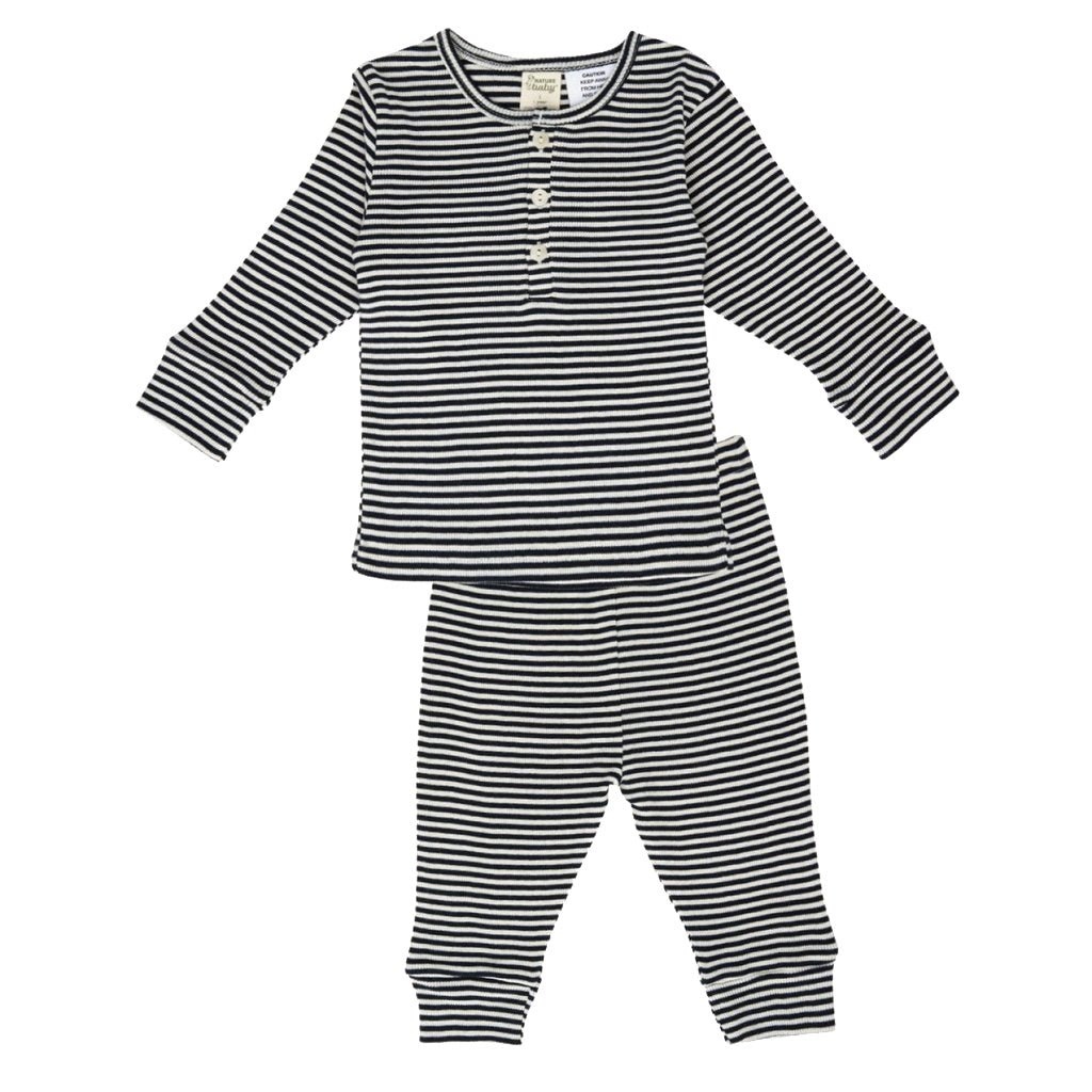 Cotton Rib Long Sleeve PJ Set