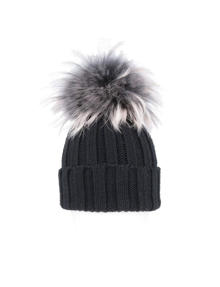 regina balena mur cuffia coste-hat in grey/black
