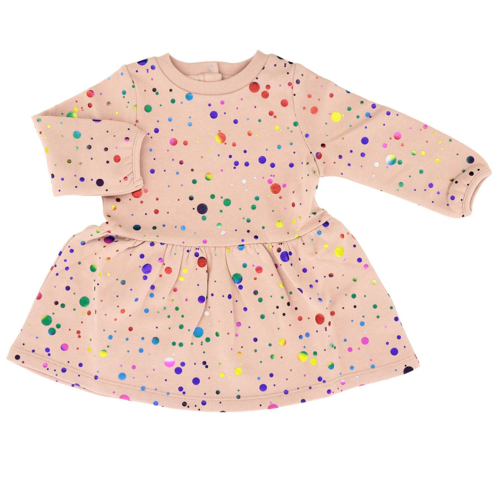 Baby Multicolour Foil Jersey Dress