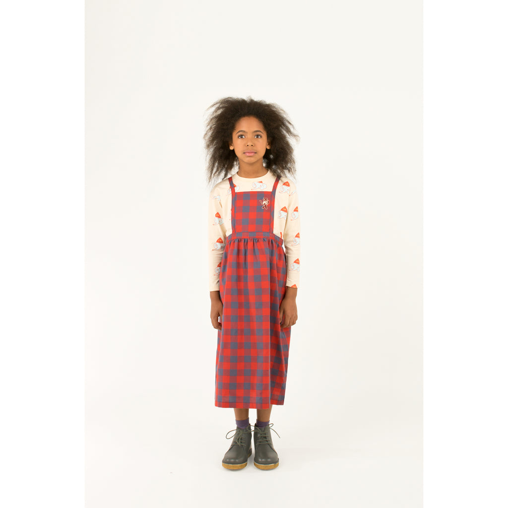 "SMALL CHECK ""CAT"" BRACES LONG SKIRT"