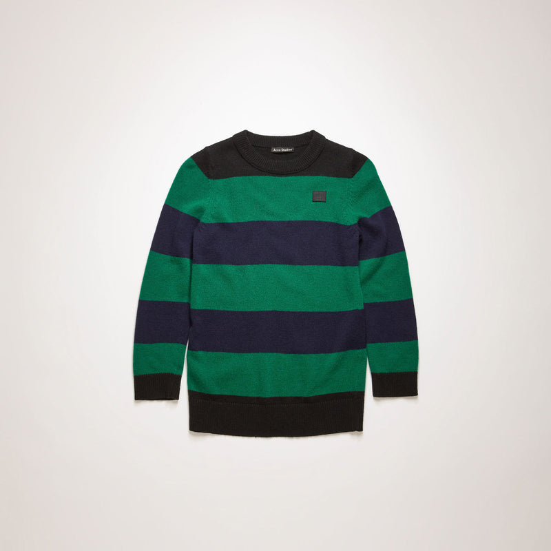 Block-striped Sweater Black/multi