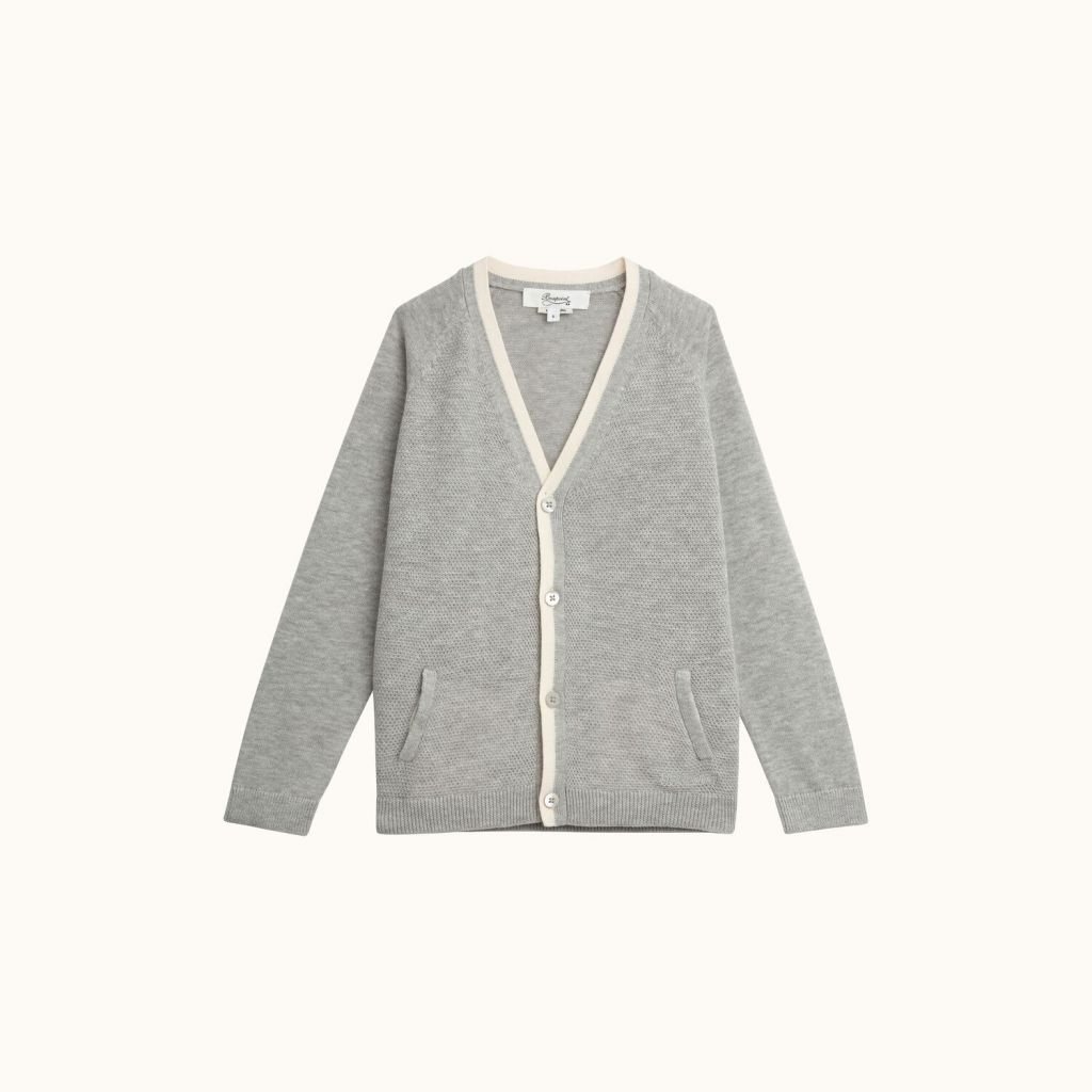 CARDIGAN LIGHT HEATHERED GRAY