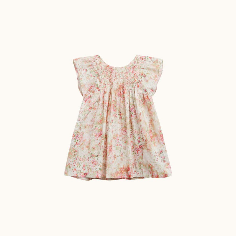 CADELILI DRESS PINK FLOWERS