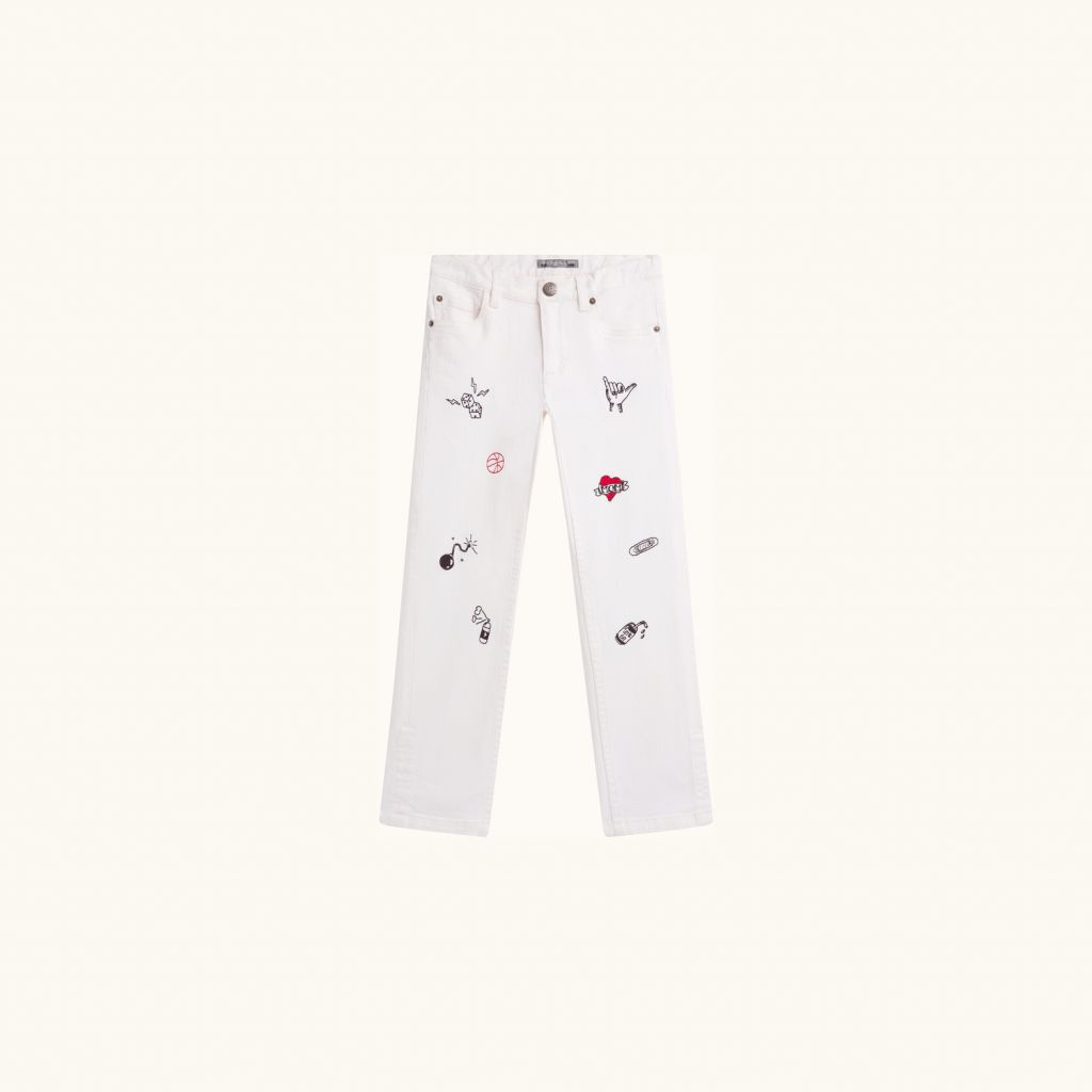 DEWEY PANTS MILK WHITE