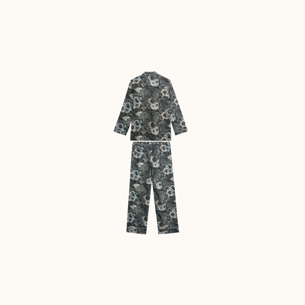 WOMAN LIBERTY PRINT DORMEUR PAJAMAS BLACK PRINT