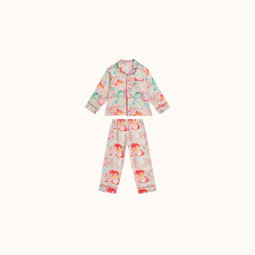 GIRL DORMEUR LIBERTY PAJAMAS MULTICOLOR