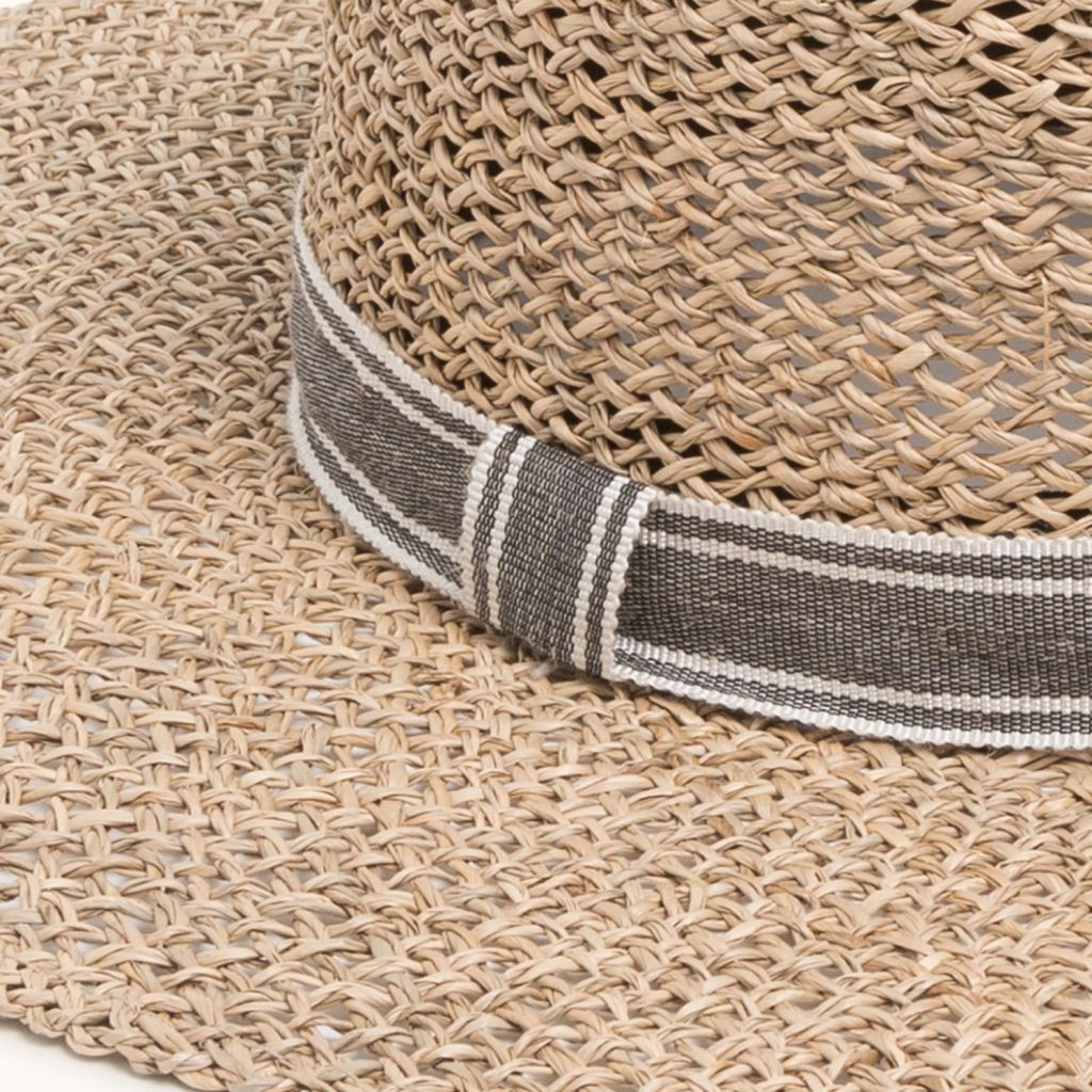 STRAW BOATER NATURAL