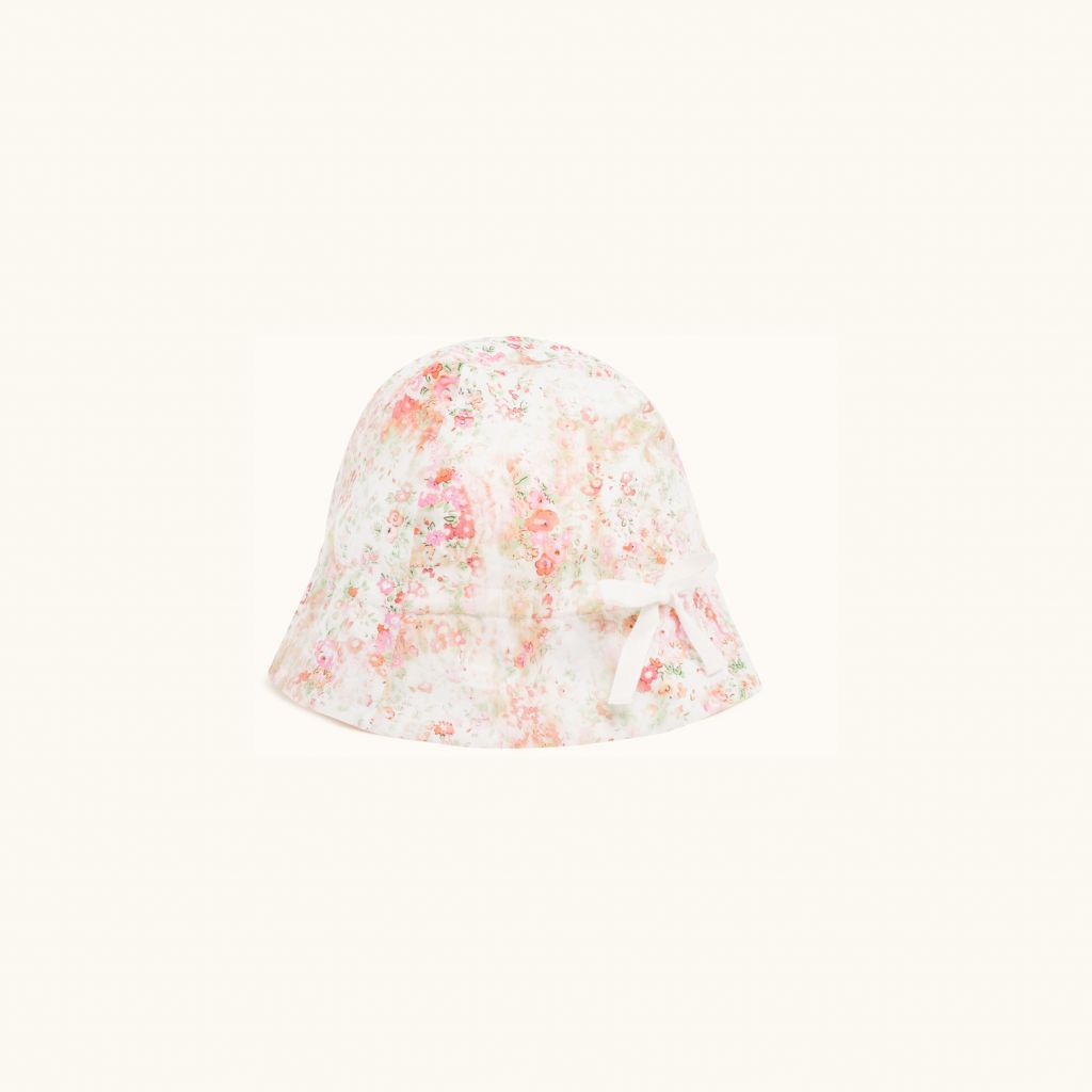 GRIGRI LIBERTY PRINT HAT PINK FLOWERS