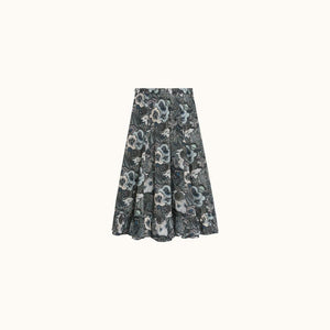 NALA WOMEN'S SKIRT BLACK PRINT