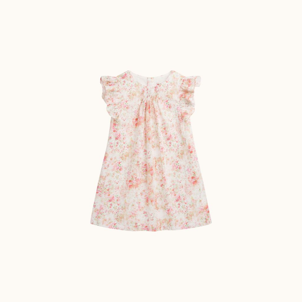 LIBERTY NILUNE DRESS PINK FLOWERS