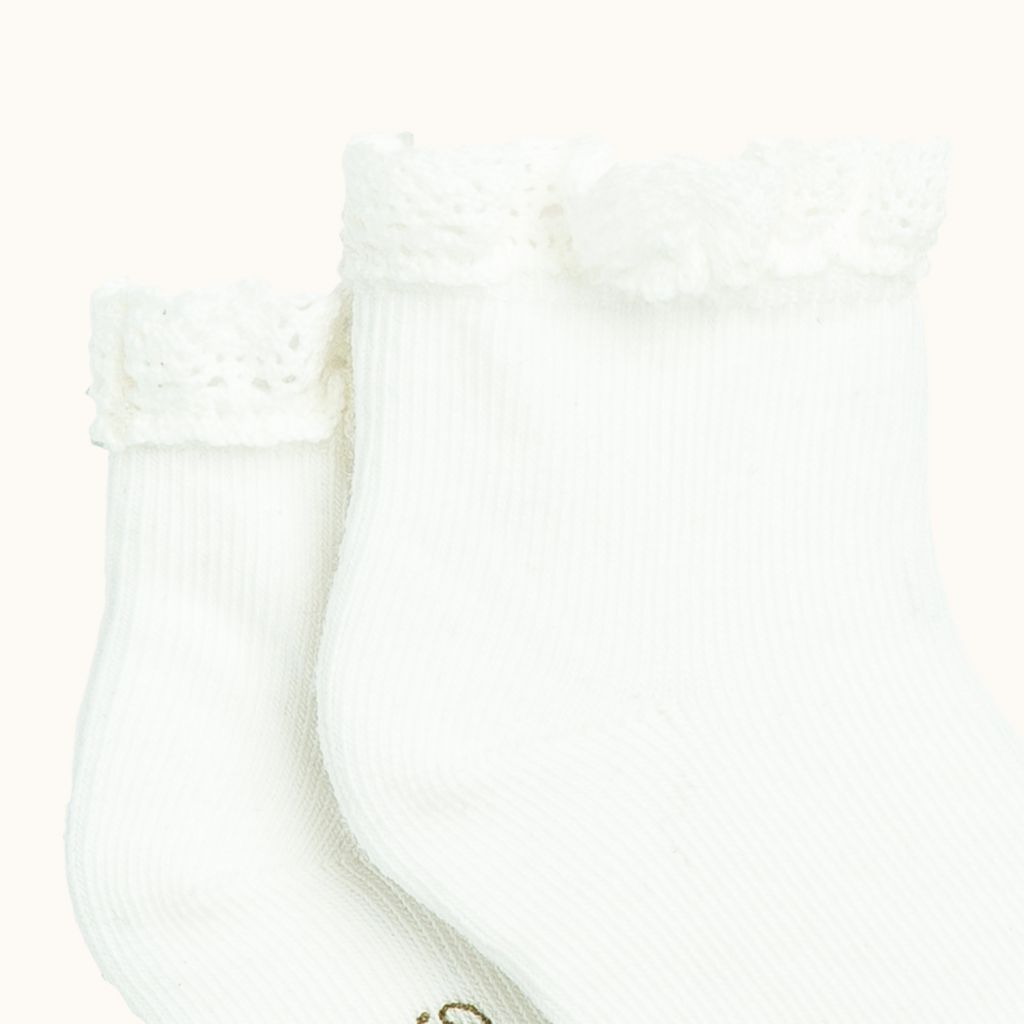 BABY'S SOCKS MILK WHITE