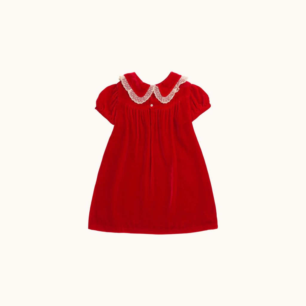 MAGIE GIRLS' DRESS RED