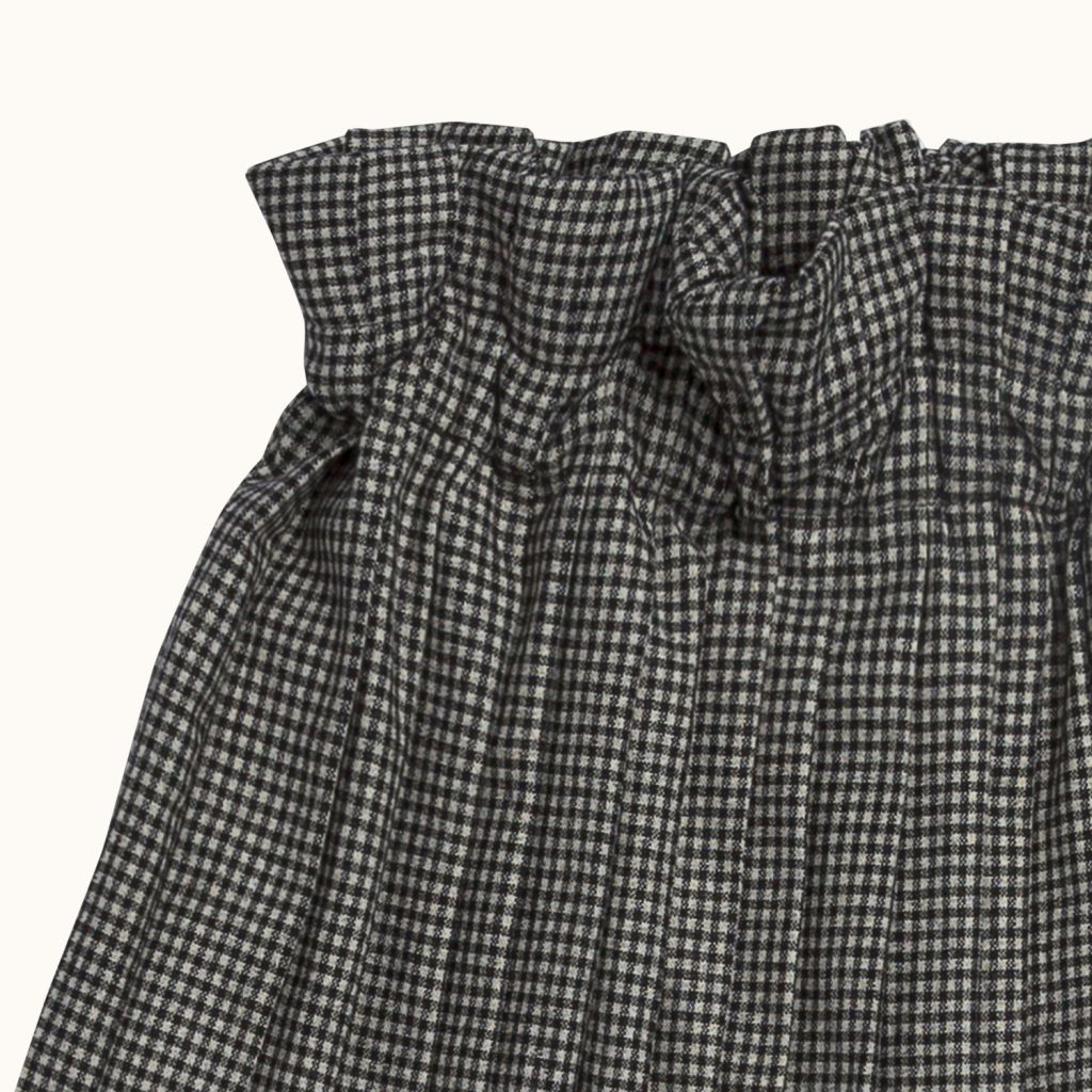 GIRLS' MEIKO SKIRT BLACK CHECK