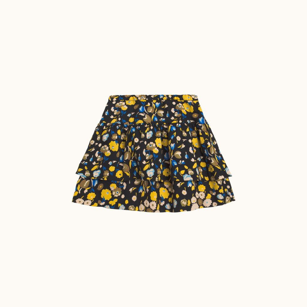 GIRLS' MIA SKIRT CHARCOAL GRAY