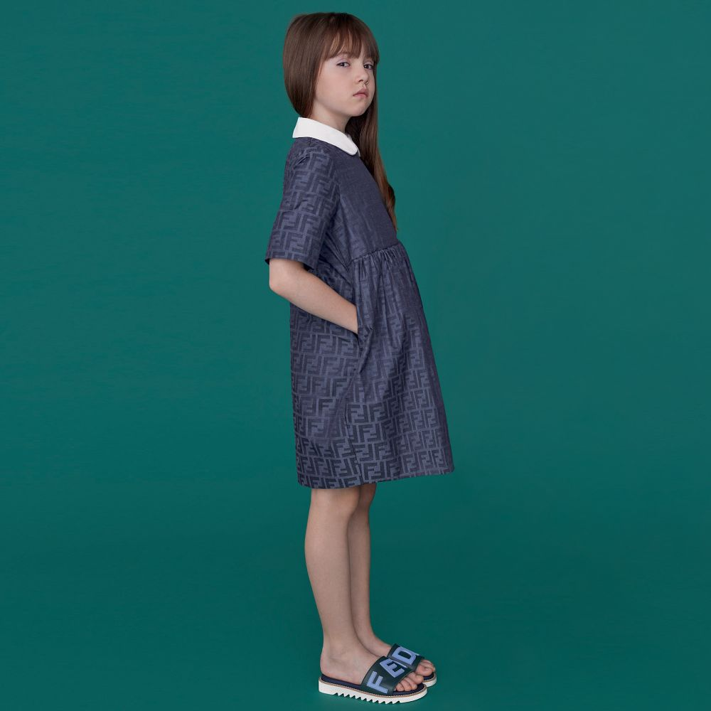 GIRL JACQUARD FF DRESS