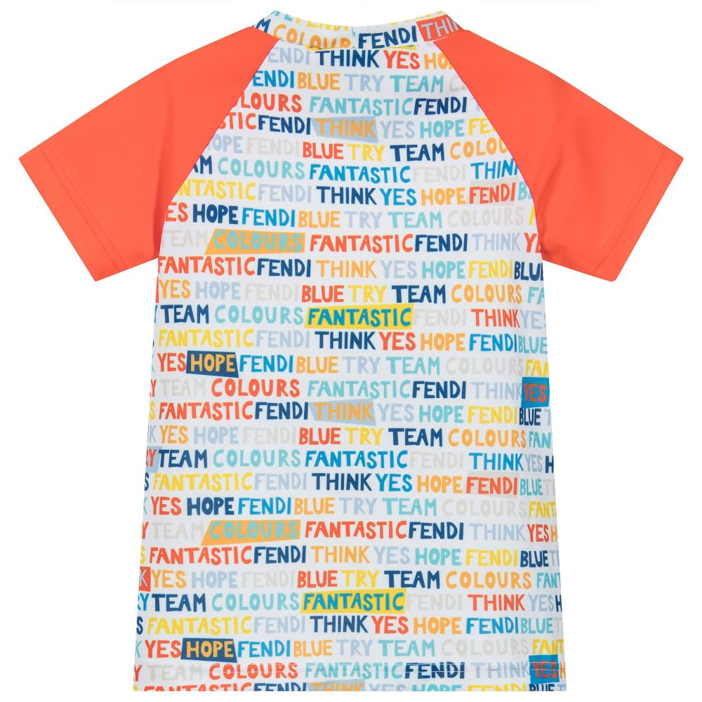 'FANTASIC FENDI' MULTICOLOR PRINT TSHIRT