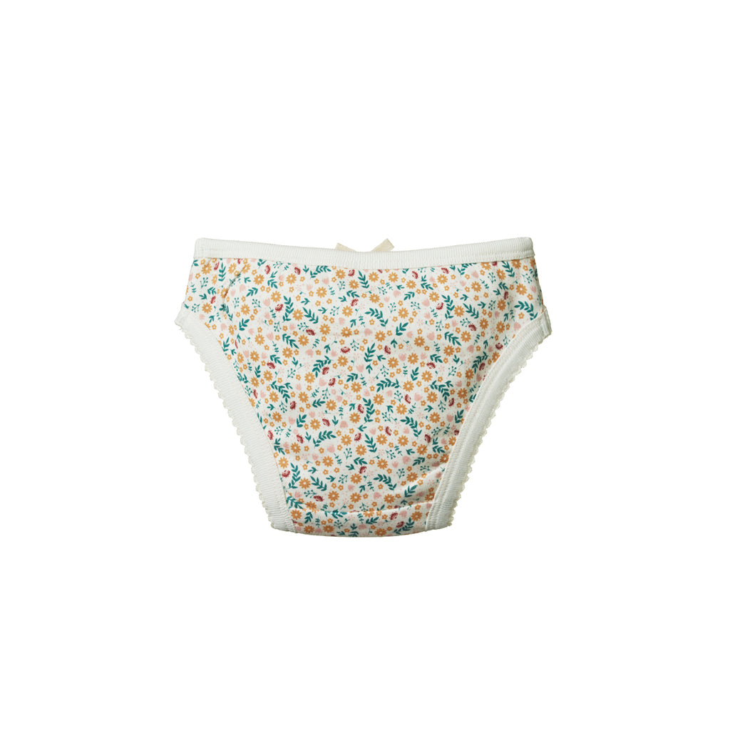 GIRLS UNDERPANTS JUNE'S GARDEN PRINT
