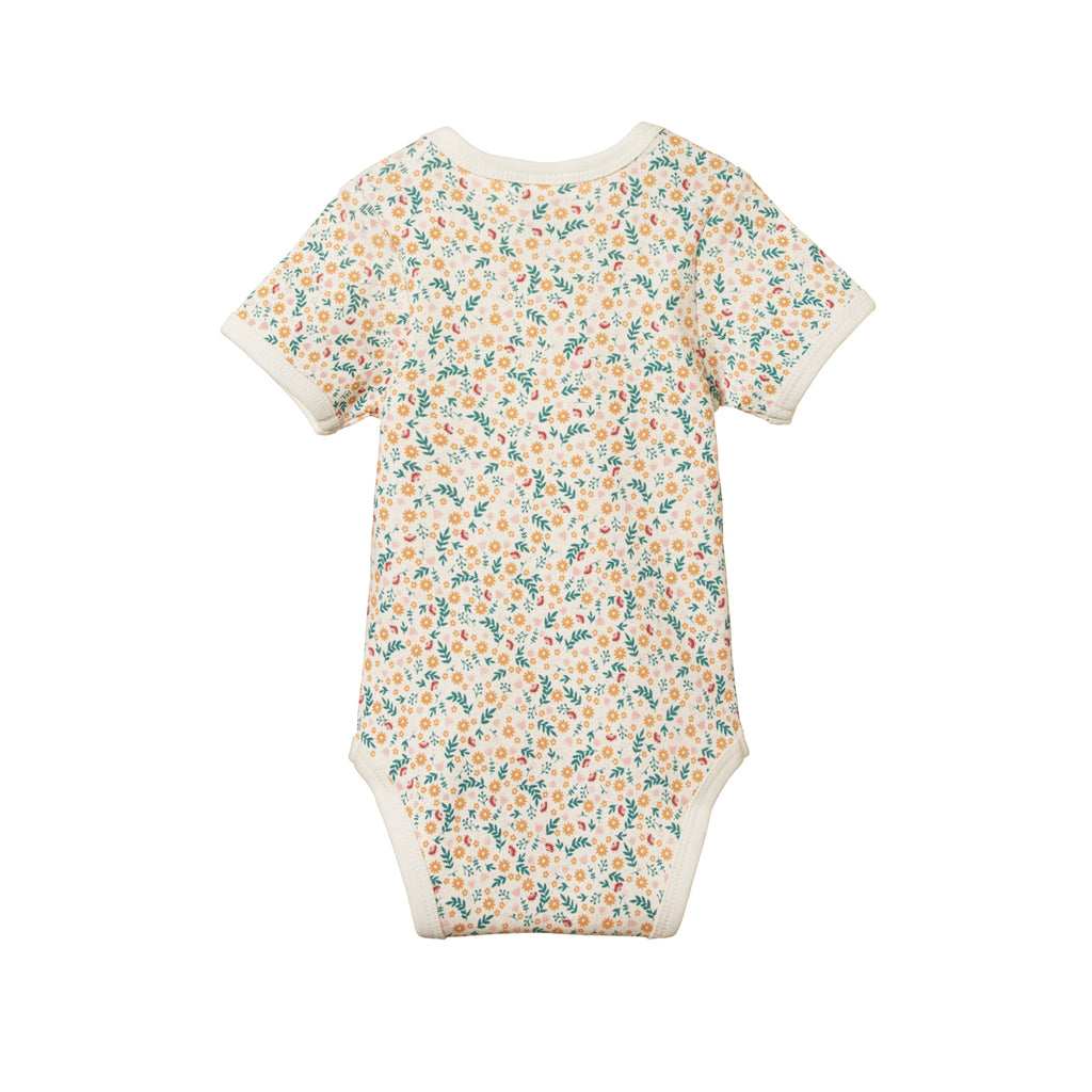 SHORT SLEEVE BODYSUIT JUNE'S GARDEN PRINT
