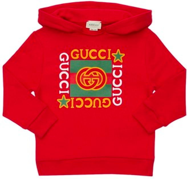 Children's sweatshirt with Gucci logo Red