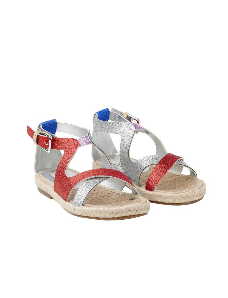 rasberry multiglitter sandals