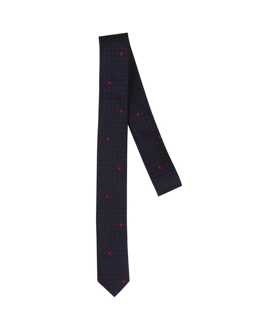 tie in navy red