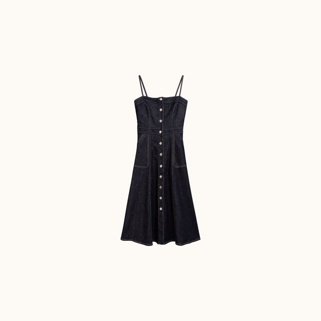 WOMAN NOVA DRESS DARK DENIM