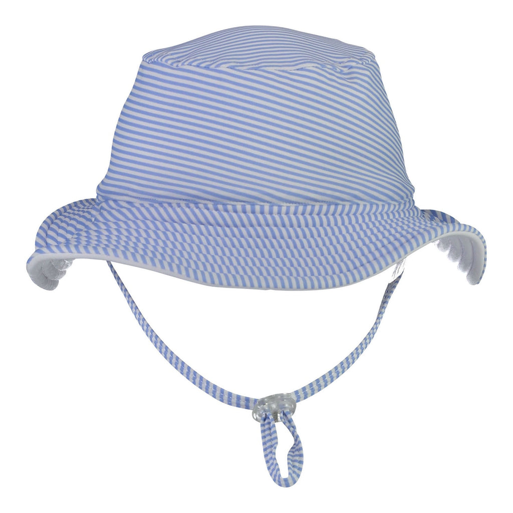 Blue & White Stripe Reversible Hat