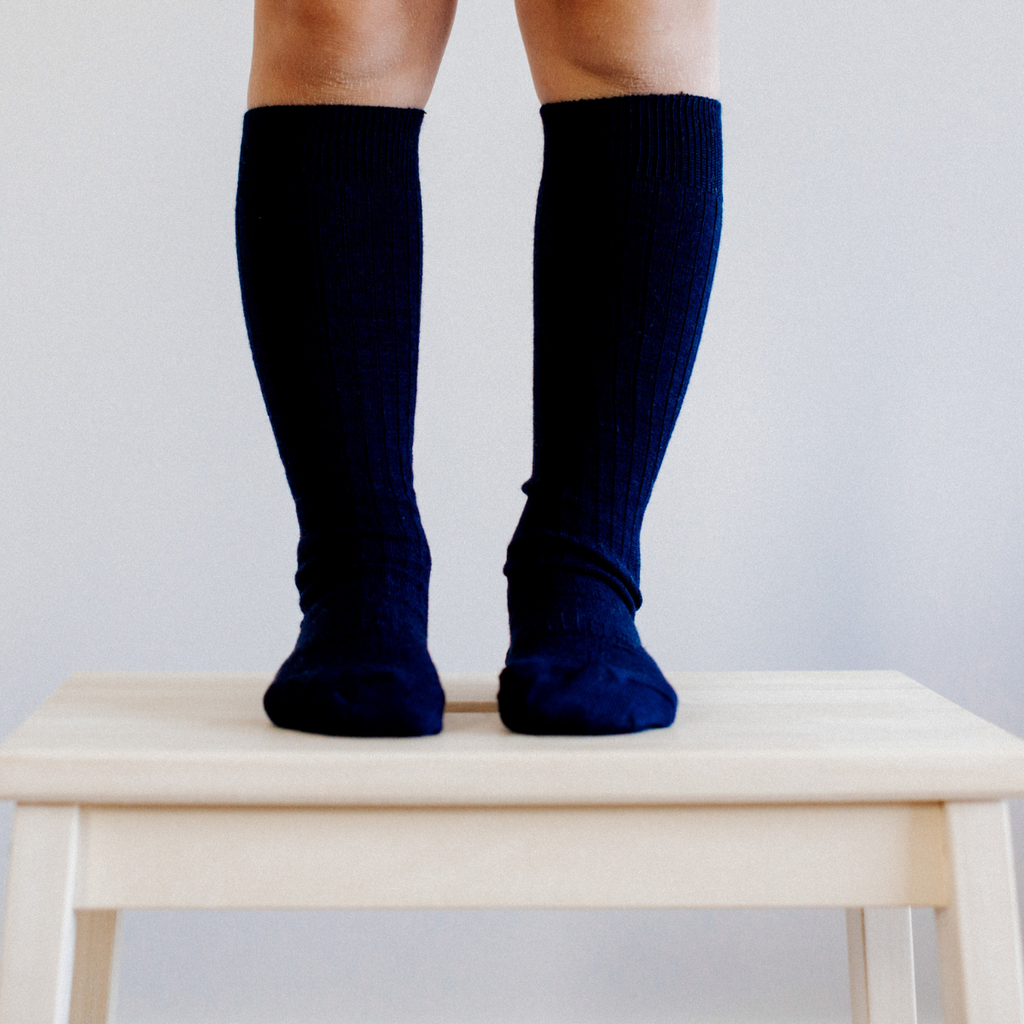 Knee high cable navy