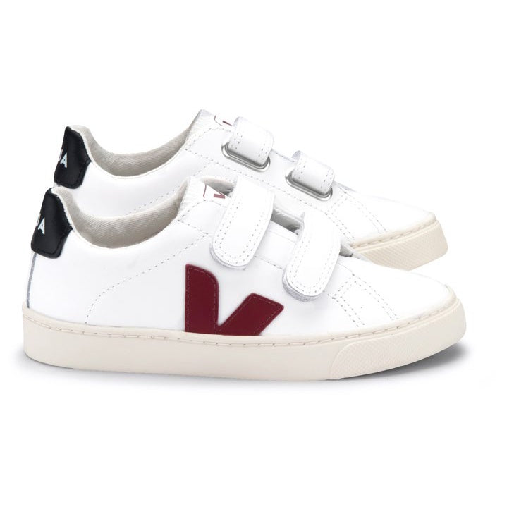 SMALL ESPLAR VELCRO LEATHER EXTRA-WHITE MARSALA