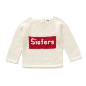 Sisters Sweater White/Red