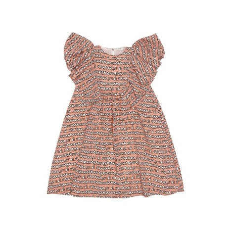 LOGO AND HEARTS PATTERN DRESS
