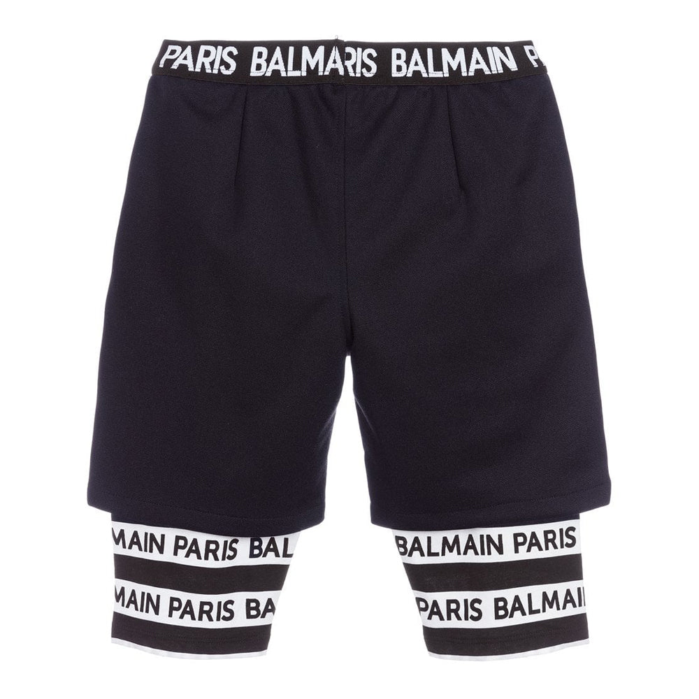 KIDS LOGO LAYERED SHORTS