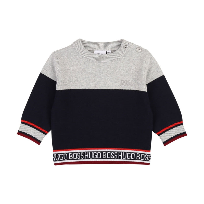 BLOCK-COLOR PULLOVER