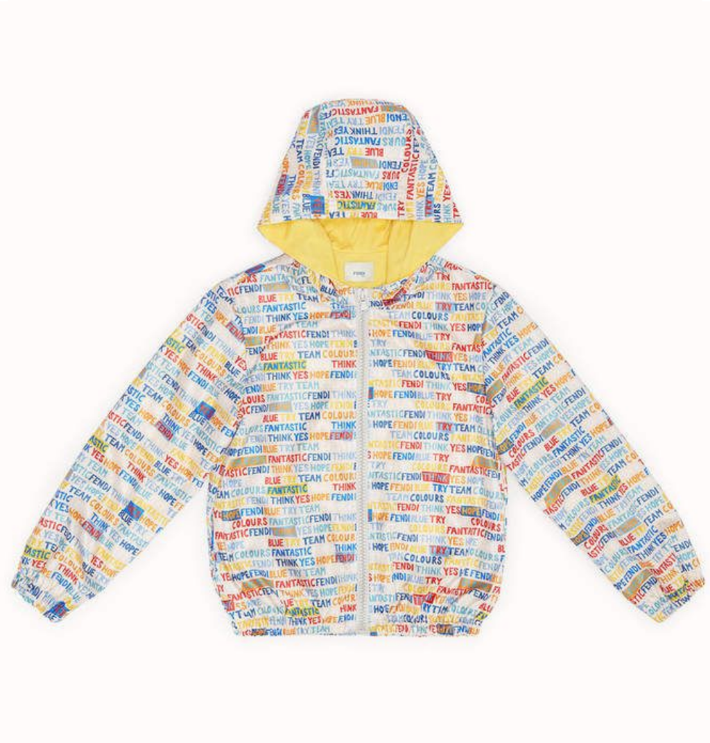 ALL OVER PRINT ZIPPER JACKET IN MULTICOLOR