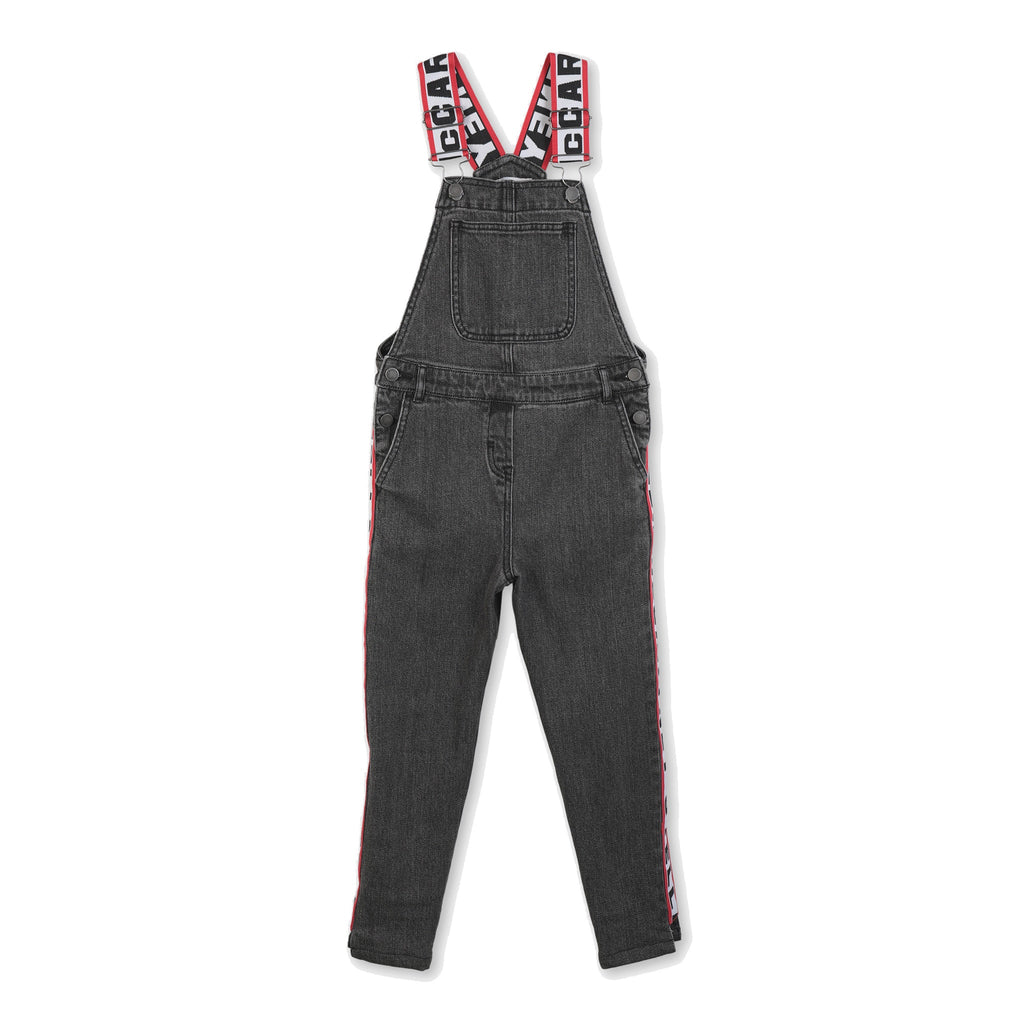 LOGO TAPE DENIM DUNGAREES