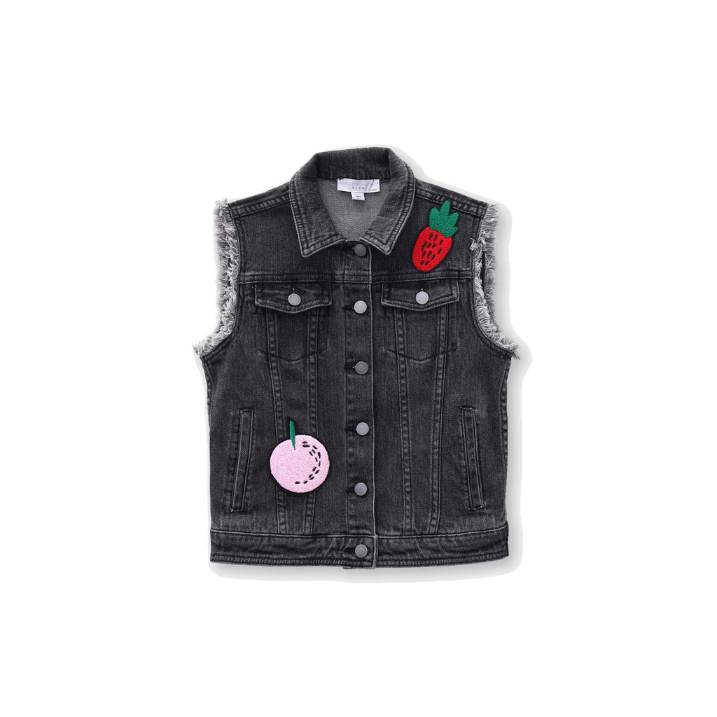 FRUIT BADGE DENIM GILET