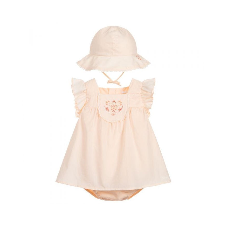 PINK COTTON DRESS SET
