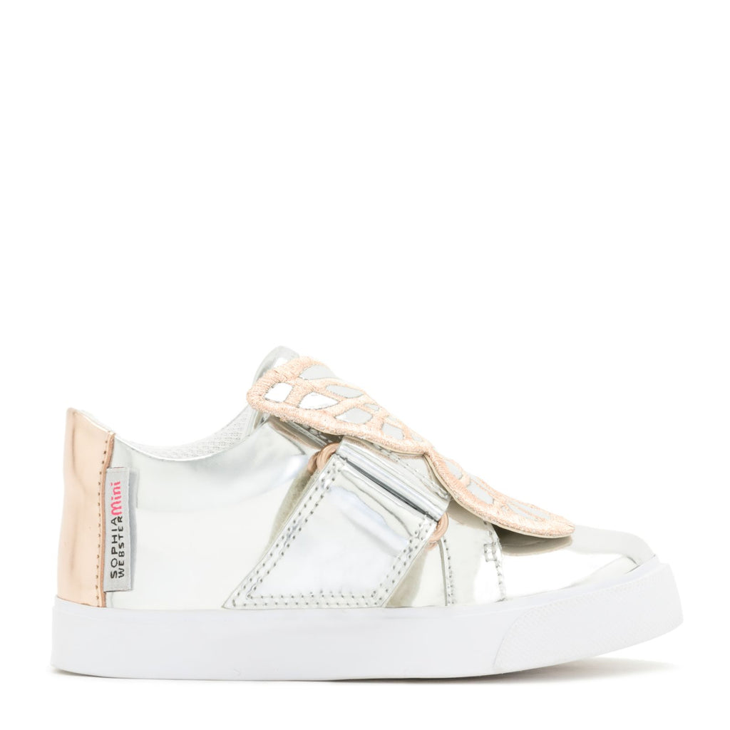 BUTTERFLY LOW TOP INFANT Silver & Rose Gold