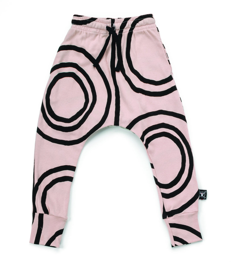 CIRCLE BAGGY PANTS POWDER PINK