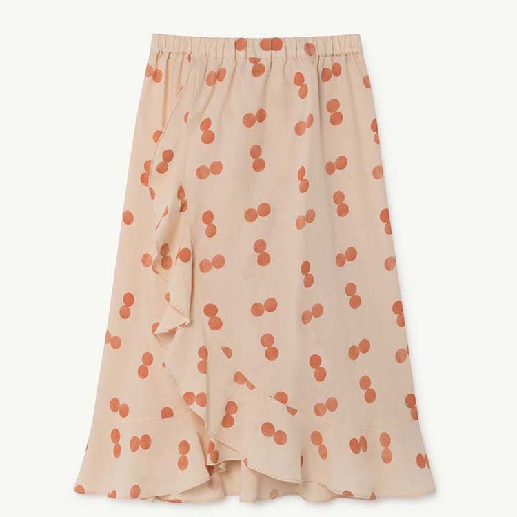 MANATEE KIDS SKIRT ORANGE CIRCLES