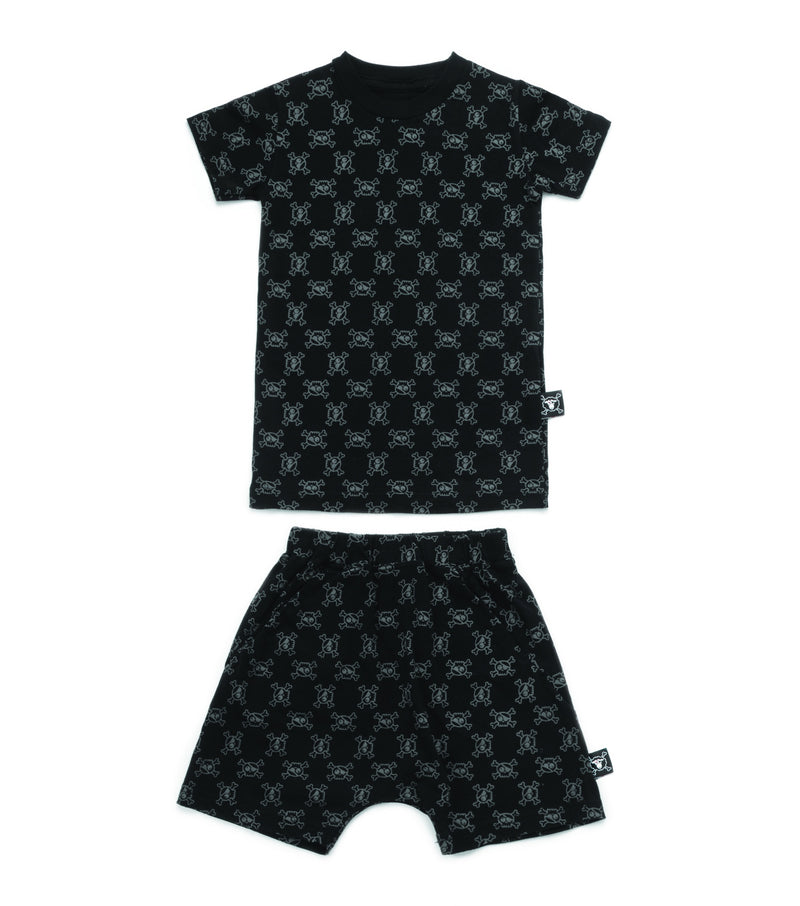 MINI SKULL LOUNGEWEAR BLACK