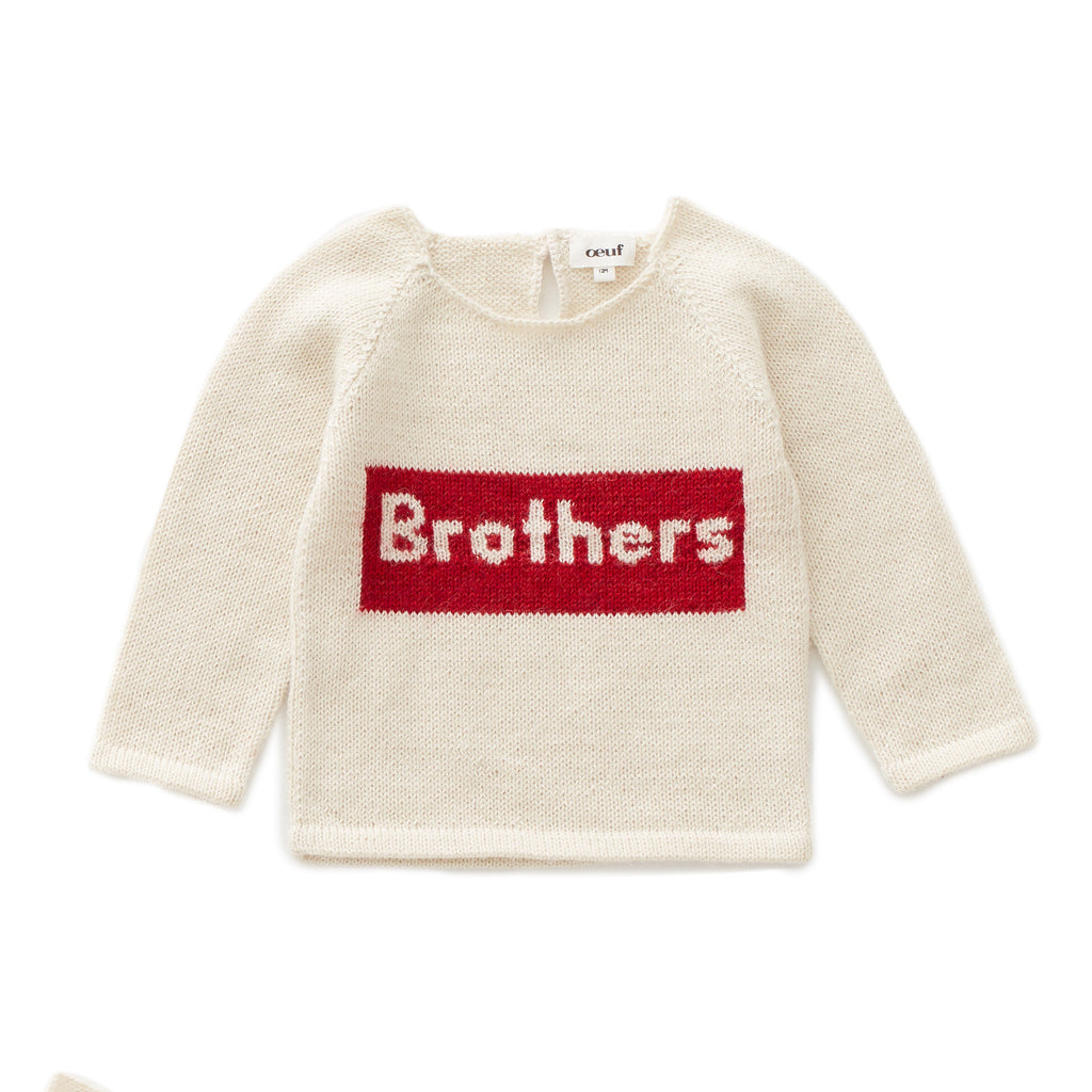Brothers Sweater White/Red