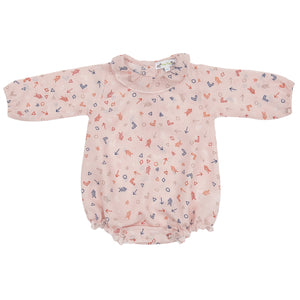 LONG SLEEVE BABY BLOUSE W FRILL COLLAR