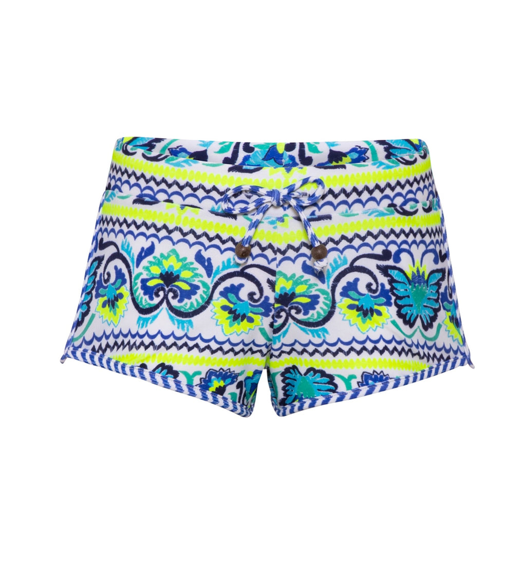 GIRLS BLUE PERUVIAN STITCH SURF SHORT